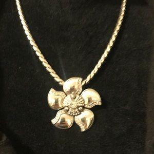 Brighton flower necklace statement piece crystals
